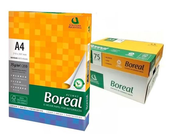 Resma A4 Boreal Caja X 10 Resmas Ramos Mejia Calidad Ult Mod