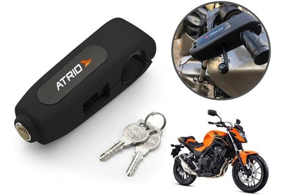 Trava De Manete Para Moto Com Chave Preto Mt182 - Atrio