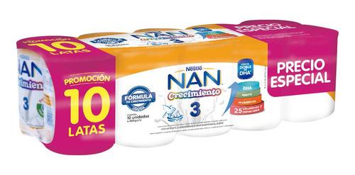 Nan® 3 Crecimiento 10x400g - Fórmula Láctea Líquida