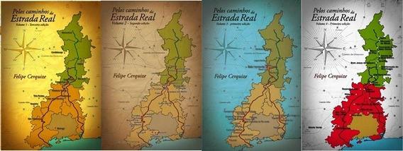 Livro Pelos Caminhos Da Estrada Real - Volumes 1, 2, 3, 4