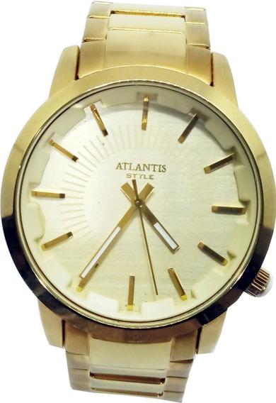 Relógio Atlantis Dourado Masculino G3268
