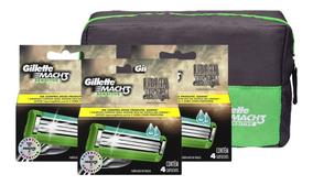 Kit Com 12 Cargas Gillette Mach3 Sensitive