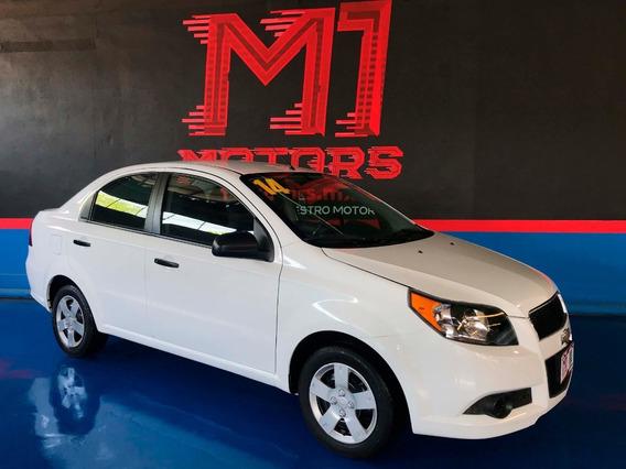 Chevrolet Aveo Ls At 2014 Blanco $ 105,000