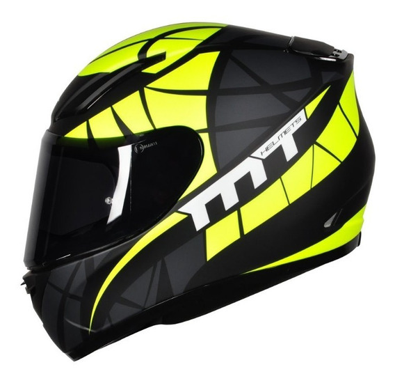 Capacete Mt Revenge Speeding Matt Black Yellow Motociclista
