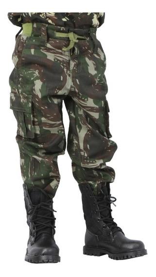 Calça Infantil Camuflada Exército Brasileiro Eb
