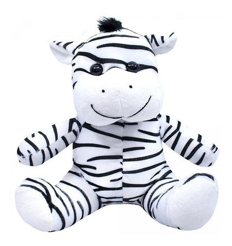 Imagem 1 de 4 de Zebra De Pelúcia 28cm Sentada