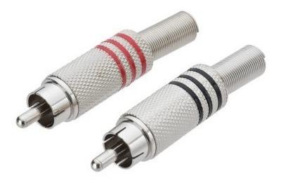 Plug Rca Metal 6mm Xpro Tekflex