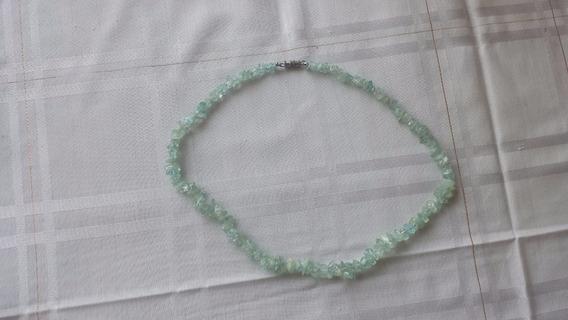 Colar - Cascalho Quartzo - Verde E Branco