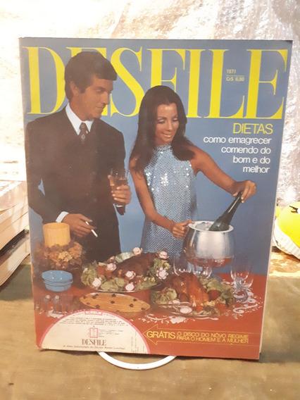 Revista Desfile Dietas Ano 1971 Com Disco - Rara Antiga