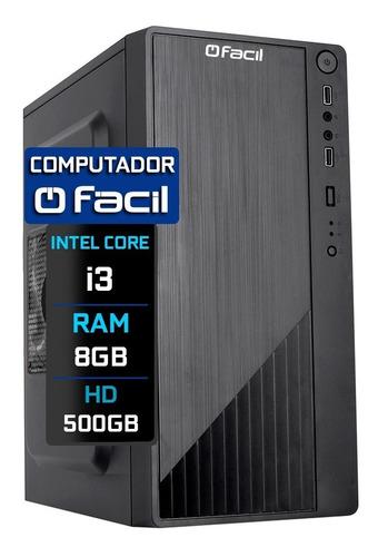 Imagem 1 de 4 de Computador Fácil Intel Core I3 8gb Ddr3 Hd 500gb
