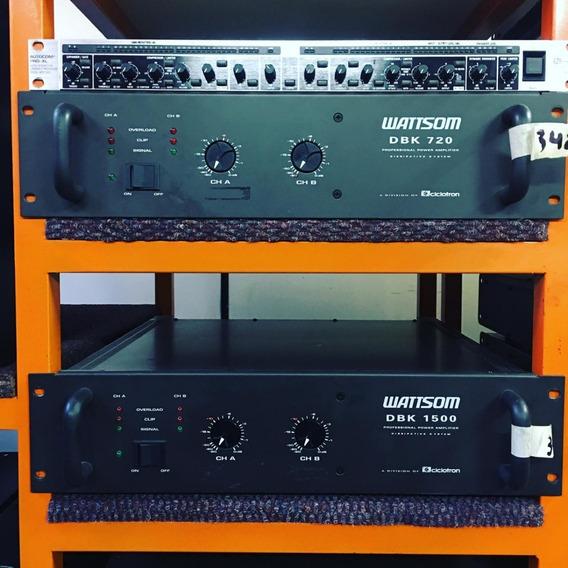 Amplificador Wattsom Dbk1500 - 12 X Sem Juros - Envio Gratis