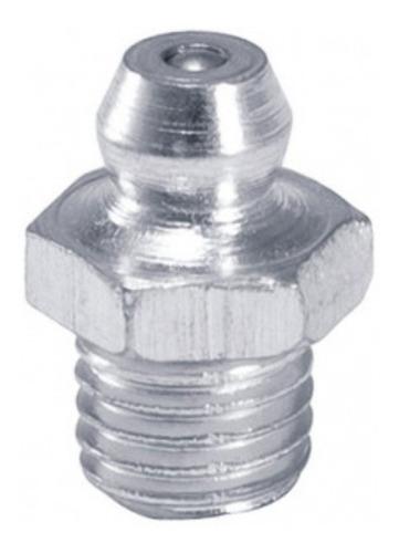 Imagem 1 de 4 de Bico Graxeiro Reto M6 X 1,00 - Aço - Kit 10 Peças