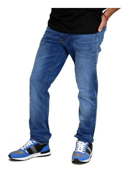 Jean Pantalon Elastizado Slim Fit Moda Hombre Mistral 15989f