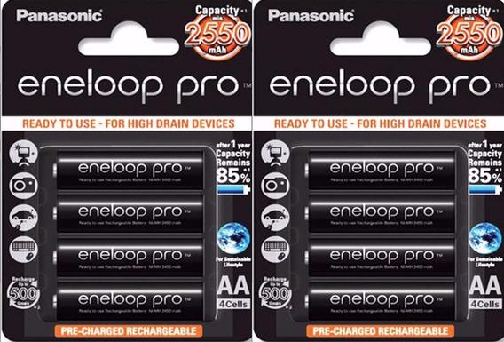 Pack 8 Pilhas Aa Panasonic Sanyo Eneloop Pro Xx 2550 Mah