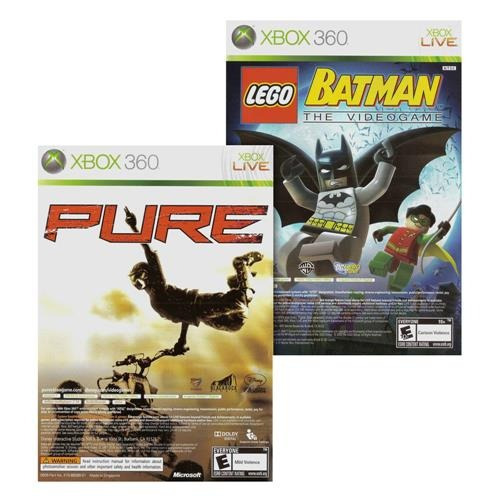 Lego Batman The Videogame + Pure Pack Duplo Física Xbox 360