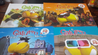 Lote 4 Gaturro Libro En 3d Sin Lentes Nik Tapa Dura