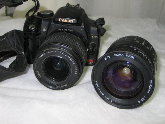 Câmera Canon Rebel Xt Funcionando Leia Tudo -nikon-pentax-