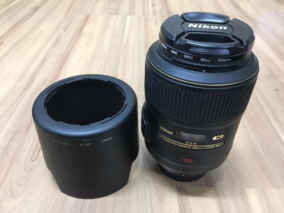 Lente Micro Af-s Nikkor 105mm F2.8g Ed Nano Cristal