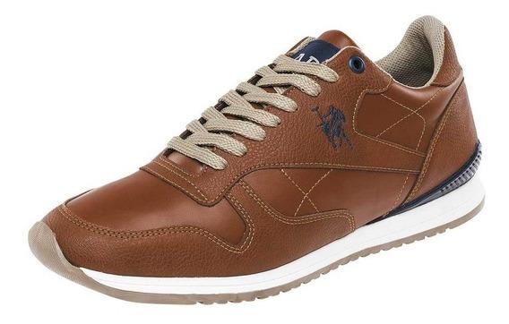 Zapato Tenis Caballero American Polo Apbl-12-cl Camel T4