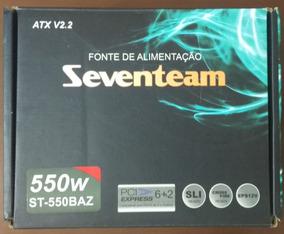 Fonte Atx 550w Real Seventeam Bivolt St-550baz
