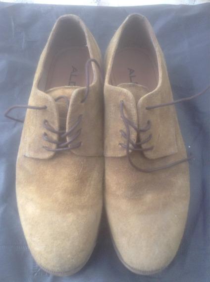 Zapatos Gamuza Marrón Aldo N42 Permuto