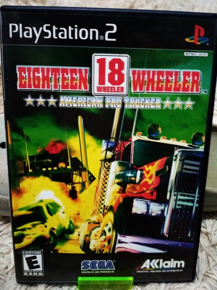 Eighteen 18 Wheeler Ps2 Original Completo Black Label Americ