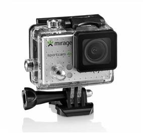 Câmera De Ação 4k Mirage Cartão De Memória 16gb E Wi-fi