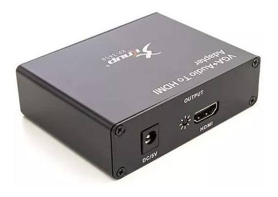 Adaptador Conversor Vga Para Hdmi Com Audio Knup Kp-3458