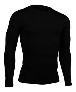 Buso Camiseta Compresion Deporte Licra Lycra Negro +obsequio