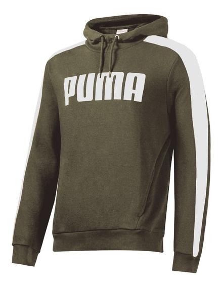 Buzo Puma Contrast Hoody Fl Hombre Original Con Capucha