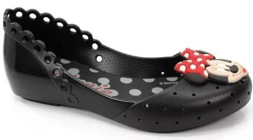 Sapatilha Infantil Feminina Minnie Mouse 21392 - Preto Opaco