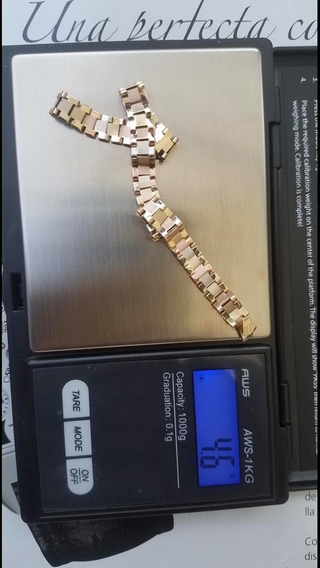 Esclava De Oro Macizo En 14k Tipo Rolex De 4.6 Gramos