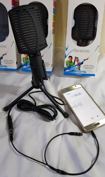 Kit Gravação Celular Voz Portátil Rua Microfone Condensador