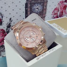 Relógio Feminino Mk8096 Dourado Rose 18k - Michael Kors