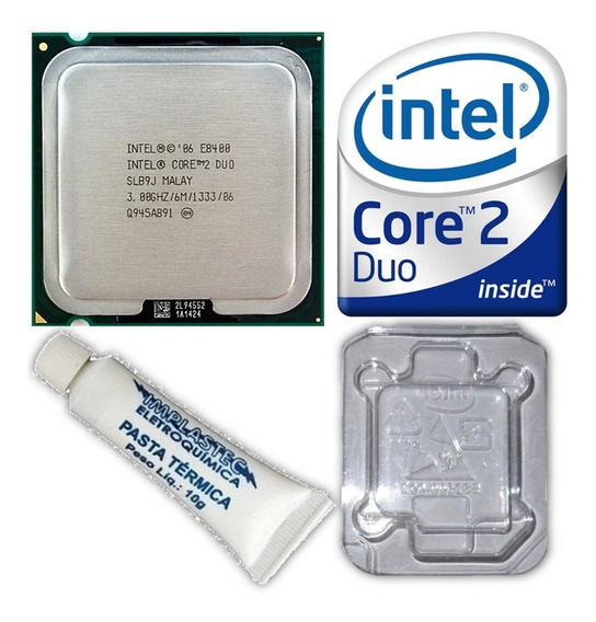 Processador 775 Intel Core 2 Duo E8400 3.0ghz 1333mhz 6m Cpu
