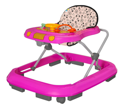 Andador Infantil De Bebê Safari Rosa Tutty Baby