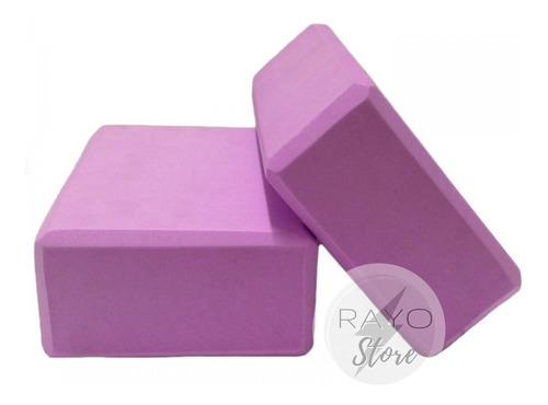 Ladrillo Yoga Pilates Bloque Cubo Mat Colores Foam