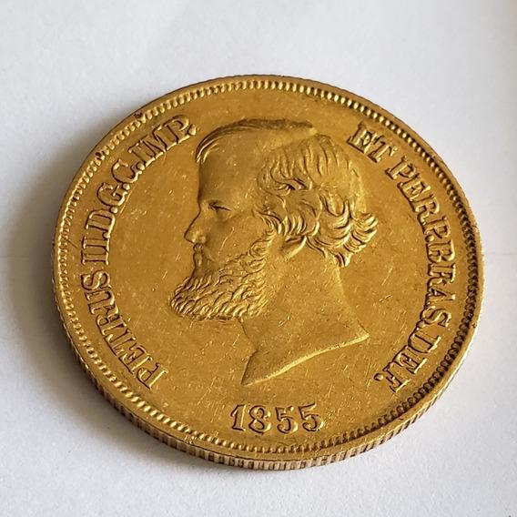 Moeda De Ouro O645 10.000 Réis 1855