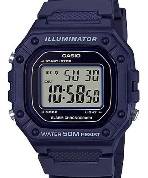Relógio Casio Masculino Digital Illuminator W-218h-2avdf
