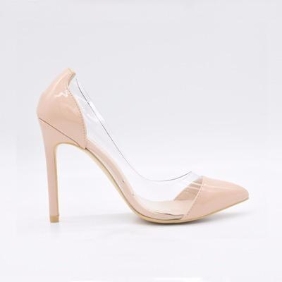 Sapatos Femininos Salto Alto Bombas Toe Slip-on