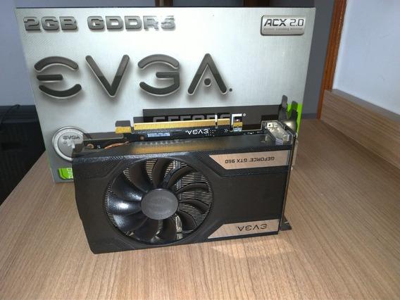 Placa De Vídeo Gtx 960 Sc 2gb Evga Nvidia Gddr5 Usada