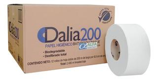 Papel Higiénico Dalia Caja C/ 12 Rollos De 200 Mt Hoja Doble