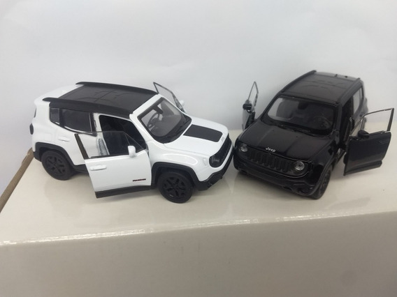 Jeep Renegade Trailhawk Miniatua 2017 Em Metal Escala 1/32.