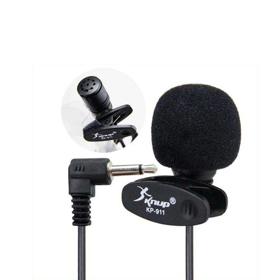 Microfone Lapela Mini P2 3.5mm Stereo Knup Kp-911