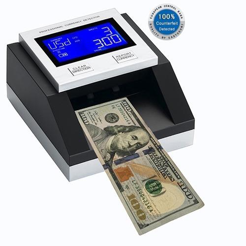 Detector De Billetes Falsos Dolares Y Euros Portátil Con Bat