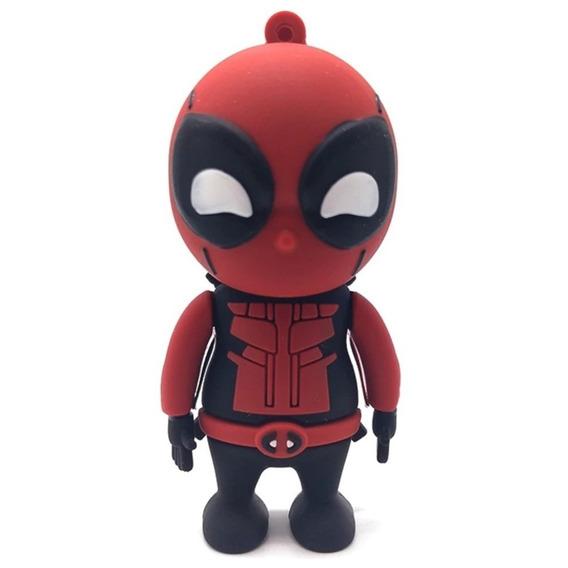 Pen Drive 32gb Personalizado Marvel Dc Deadpool Super Héroi
