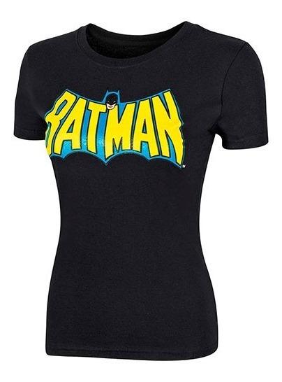 Playera Dama Bat-man Lpx Bldbb9401 Negro Amarillo 096-490 T5