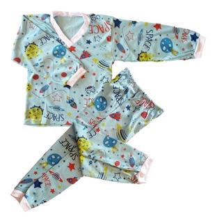 Kit 06 Pijama Conjunto Infantil Menino Algodão Estampado