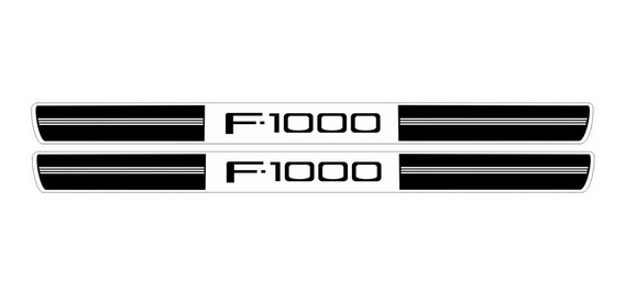 Soleira De Porta Resinada F-1000 Ford Preta