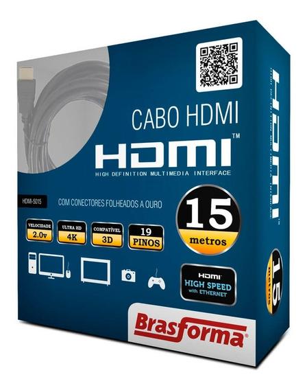 Cabo Hdmi 2.0 4k 3d 1080p Com 15metros Hdmi-5015